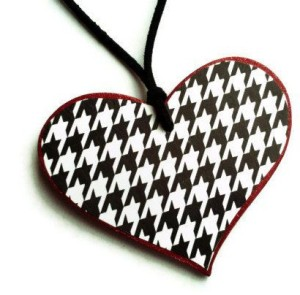 houndstooth heart